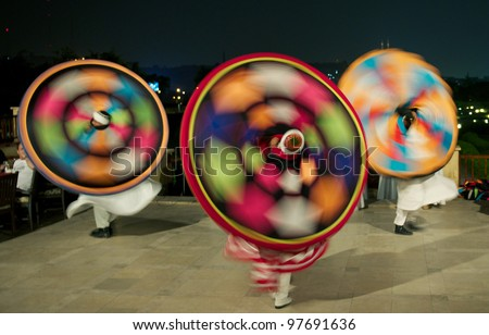 Darvish dancers, Traditional Egyptian dance known as Tanoura - stock photo