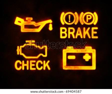 Dashboard Warning Lights Stock Images RoyaltyFree Images - Car sign on dashboard