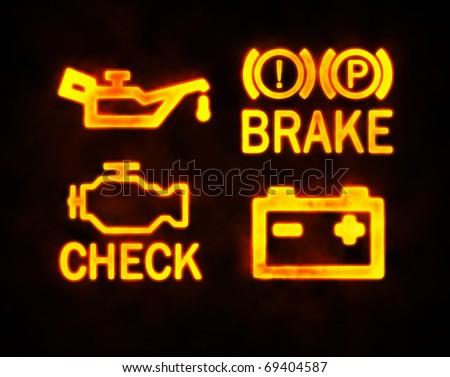 Car Warning Lights Stock Images RoyaltyFree Images Vectors - Car image sign of dashboarddashboard warning lights stock images royaltyfree images