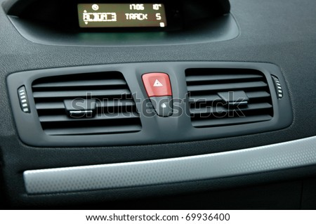Dashboard-control panel with air blowings