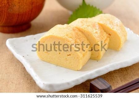 dashimaki,japanese omlet - stock photo