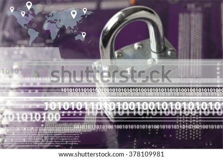 Data. - stock photo