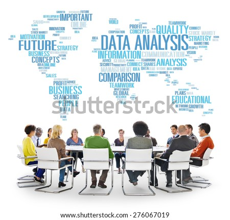 Data Analysis Analytics Comparison Information Networking Concept - stock photo