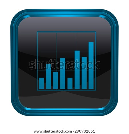 Data analysis square icon on white background