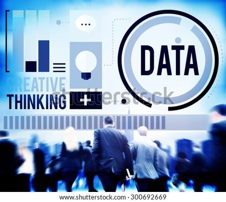 Data Analysis Storage Information Concept - stock photo