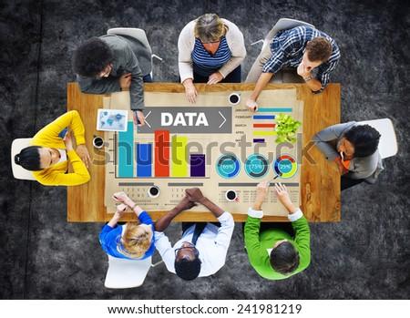 Data Analytics Chart Performance Pattern Statistics Information Concept - stock photo