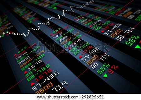 Data analyzing in stock market - stock photo