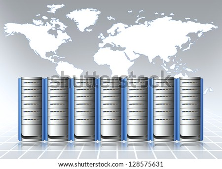 data center - stock photo