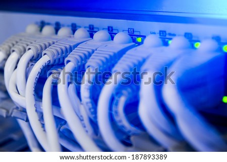 data center - stock photo