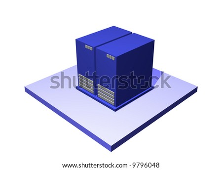 Data Center, a logistics supply chain symbol from a series set - stock photo