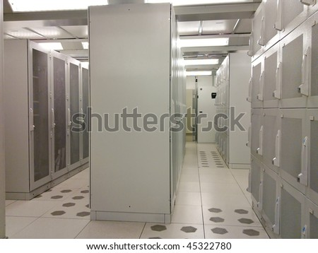 Data Center Interior - stock photo