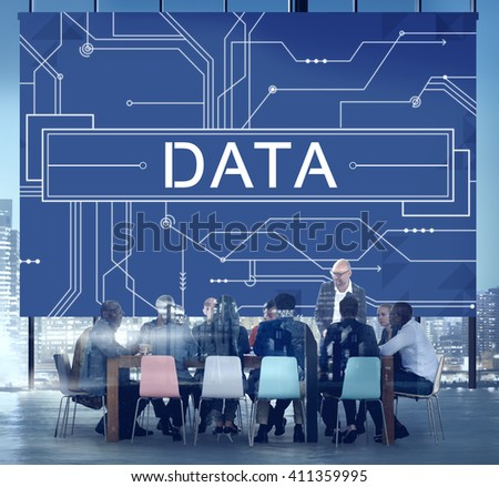 Data Circuit Board Technology Futuristic Information Concept - stock photo