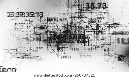 Data Code Digital Technology. - stock photo