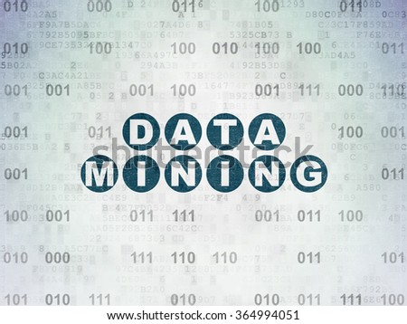 Data concept: Data Mining on Digital Paper background - stock photo