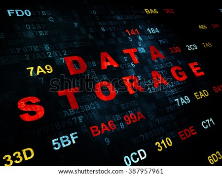 Data concept: Data Storage on Digital background - stock photo