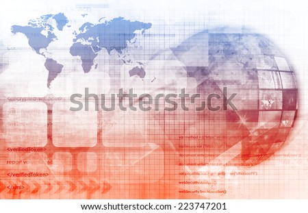 Data Connectivity and Database Management System as Art - stock photo