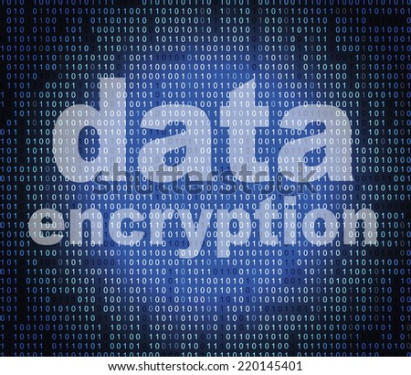 Data Encryption Showing Code Cipher And Fact - stock photo