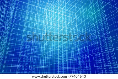Data Grid - stock photo