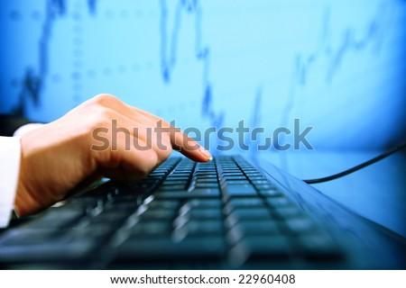 data input - stock photo
