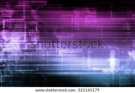 Data Management and Efficient Database System Art - stock photo