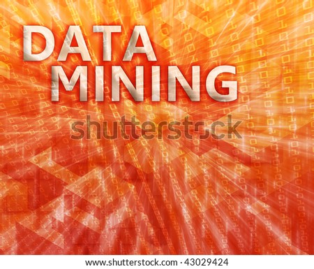 Data mining abstract, computer technology concept illustration - stock photo