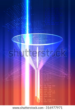 Data Mining Concept - Illustration - stock photo