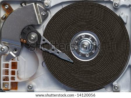 data on the hard disc - stock photo