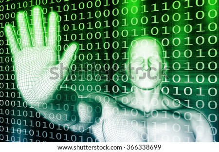 Data Protection and System Firewall as a Concept - stock photo