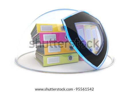 Data protection. Document security concept - stock photo