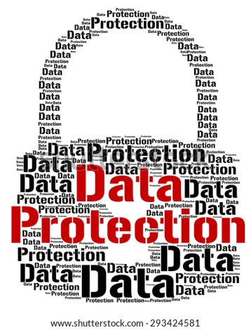 Data Protection Indicating Words Security And Restricted - stock photo