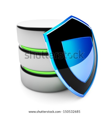 Data protection. Information security concept. Cloud storage safety. - stock photo
