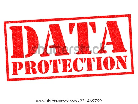 DATA PROTECTION red Rubber Stamp over a white background. - stock photo