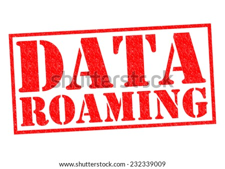 DATA ROAMING red Rubber Stamp over a white background. - stock photo