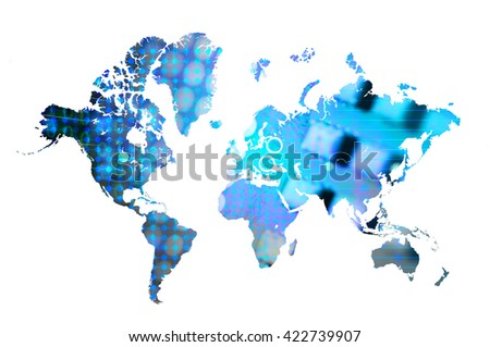 Data science world map stock illustration 422739907 shutterstock data science world map gumiabroncs Images
