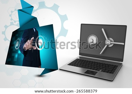 Data security concept - stock photo