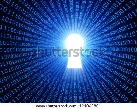 Data security concept binary background - stock photo