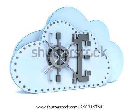 Data security concept in cloud computing - stock photo