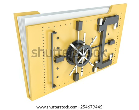 Data security concept. Locked folder with combination lock - stock photo