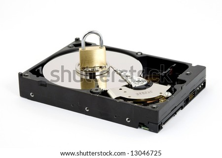 data security concept studio isolated