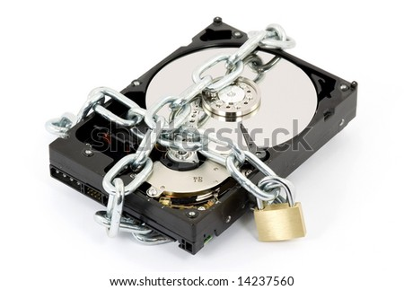 data security concept studio isolated - stock photo
