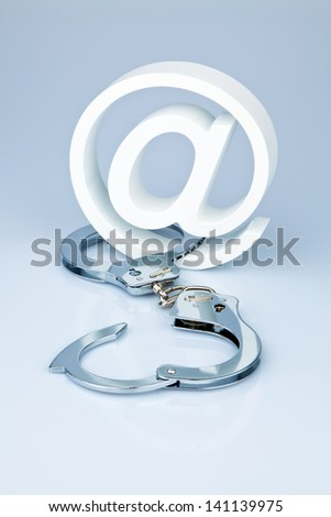 data security on the internet. safely surf the internet. defense against viruses and spam. - stock photo