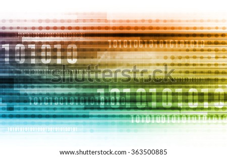 Data Security over the Internet and Personal Info - stock photo