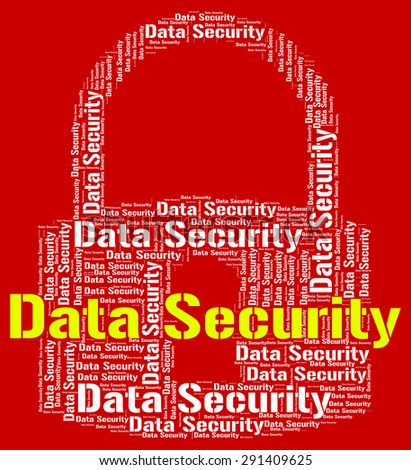 Data Security Showing Word Secure And Fact