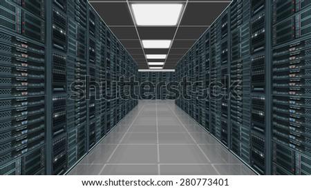 Data server center - stock photo