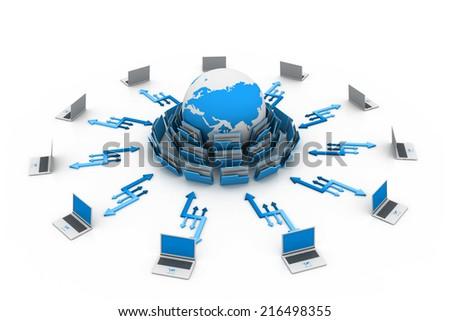 Data sharing concept - stock photo