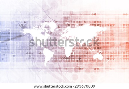 Data Sharing Network with Transparent View of Information - stock photo
