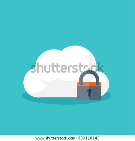 Data storage. Cloud computing. Flat background. Web storage. Folder and documents. information transfer. Internet search and media server.Security and protection.