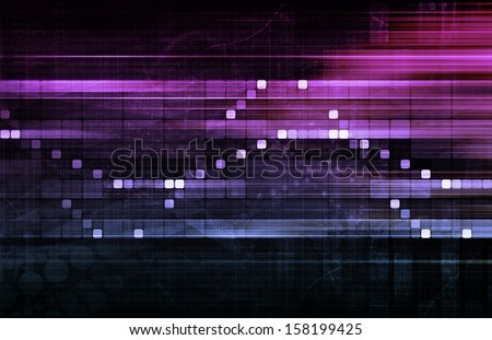 Data Tracking and Surveillance Chart Analysis Art - stock photo