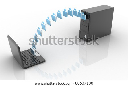 Data transferring - stock photo