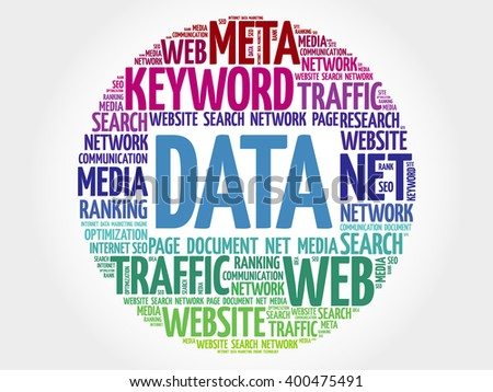 DATA word cloud, business concept - stock photo